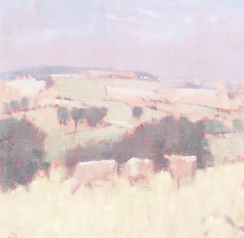 Stephen Brown (British, b.1947) Jersey Cows, Woodberry 18 x 18cm (7 x 7in)