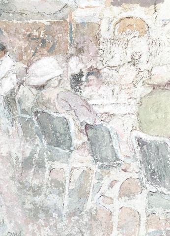 Diana Armfield (British, b.1920) A Drink at Quadri's, Venice 14 x 10cm (5 1/2 x 4in)