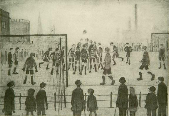 Laurence Stephen Lowry (1887-1976) 'The Football Match' 24.5 x 35.5cm.