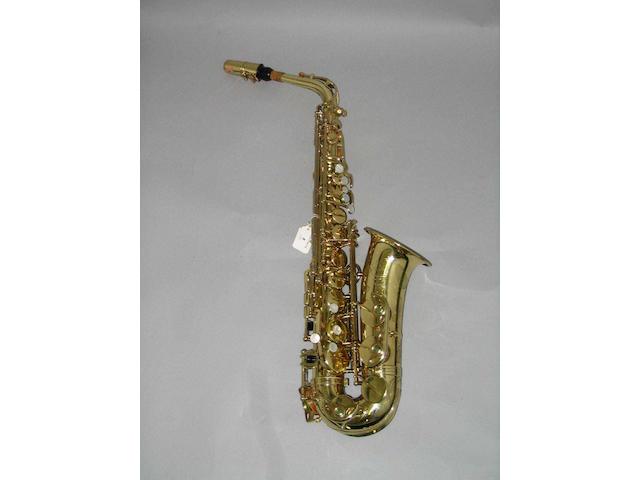 An Eb Alto Saxophone by Henri Selmer, Paris No. M176047