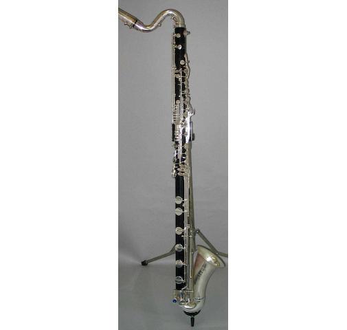 A Bass Clarinet by Selmer, Paris No. E1270