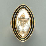 A late 18th century mourning ring,