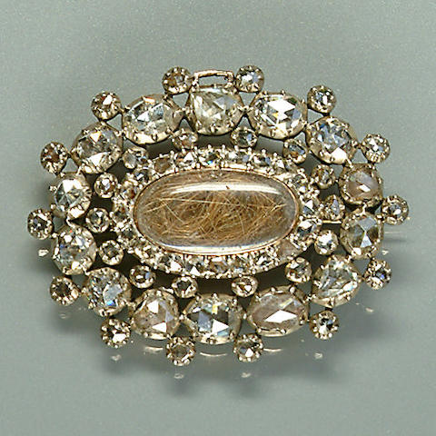 An early 19th century diamond brooch,