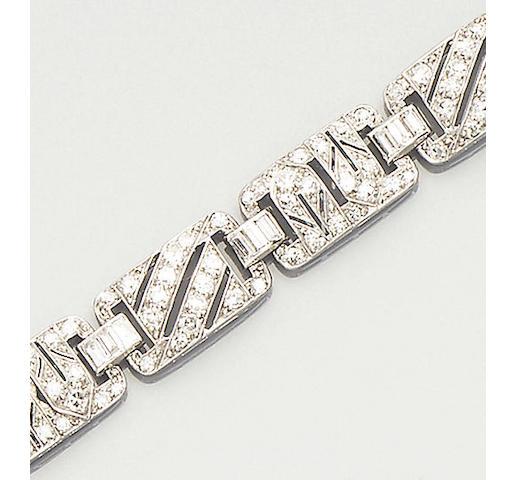 A 20th century diamond bracelet,