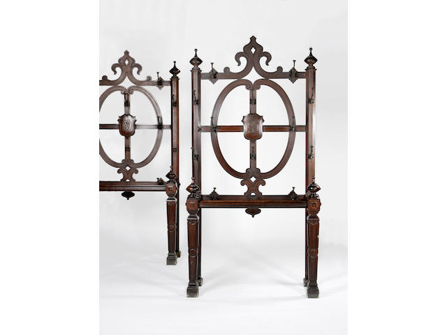 A pair of Victorian oak Hall Stands,