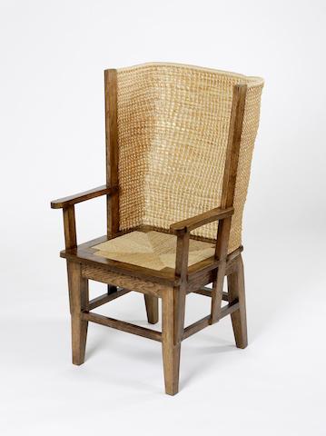 An oak framed Orkney Chair,