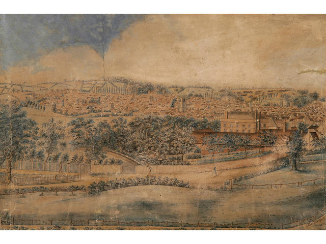 Robert Burcham Clamp (1795-1875) Ipswich from Belstead Hill 38.5 x 58cm (15 x 23in), together with a