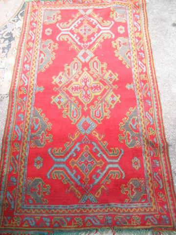 A 'Turkey Red' rug