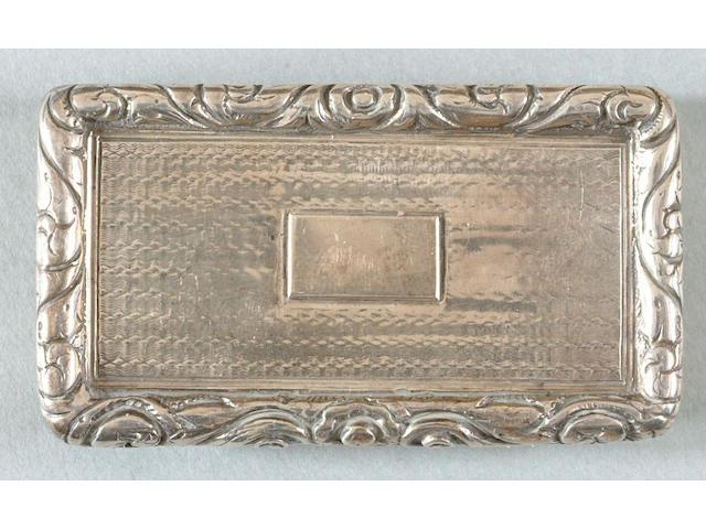 A George IV snuff box John Bettridge, Birmingham, 1824,