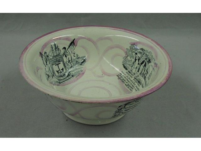A large Sunderland lustre bowl, 29cm diameter.