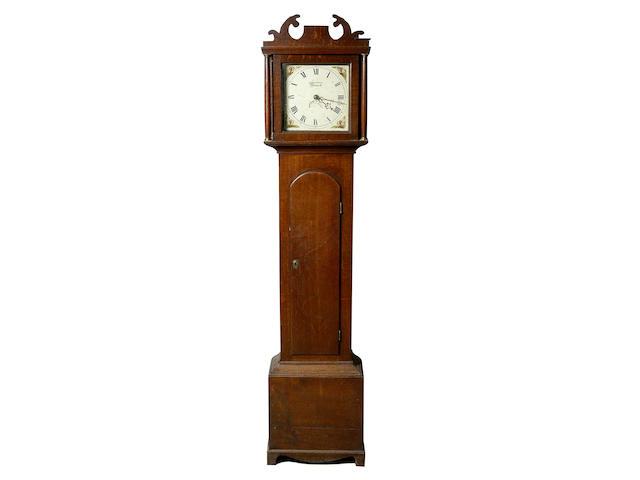 John Mann, Norwich; a George III oak longcase clock,