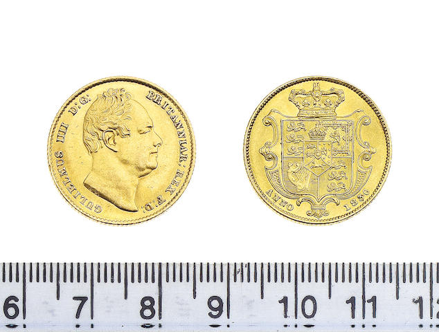 William IV (1830-37), Sovereign, 1836, second bust right, top of ear broad and flat, nose to 2nd I in BRITANNIAR.