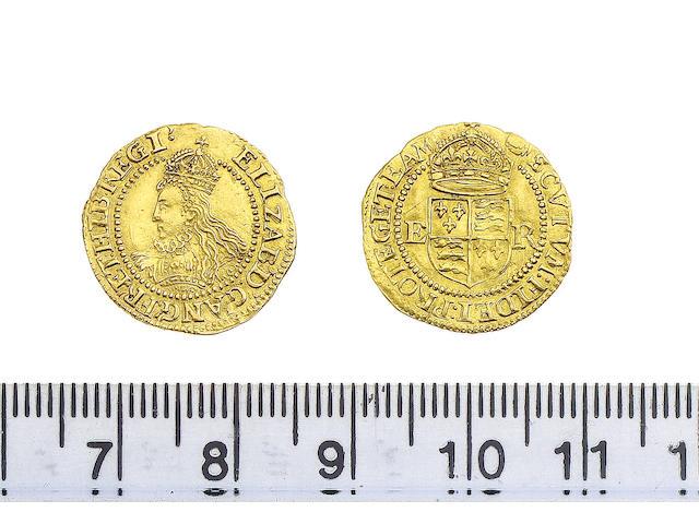 Elizabeth I (1558-1603), Half Crown, (1591-1594), Mint mark, tun on reverse only (S.2537) (N.2011)