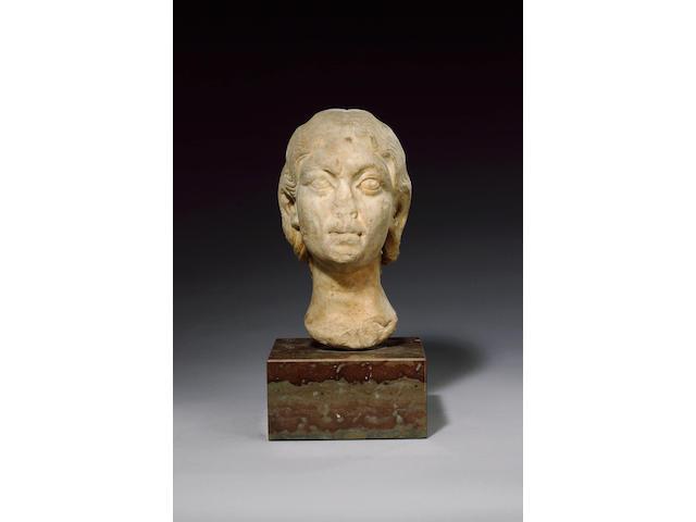 A Roman marble portrait head