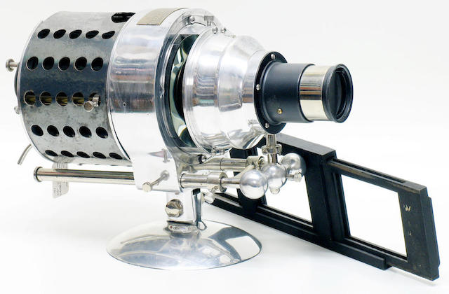 Victor Portable Stereoptican, Model 2 serial No. 9700, early 20th Century by Victor Animatograph Co Davenport, Iowa U.S.A.