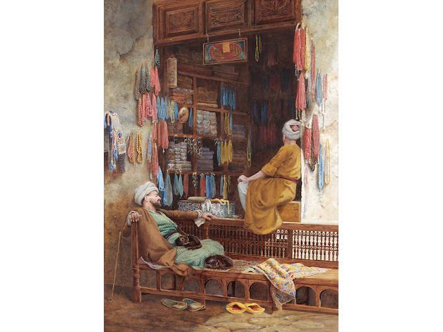 Charles Robertson A.R.W.S., R.P.E. (British, 1844-1891) A depression in trade 50.8 x 35.6 cm. (20 x