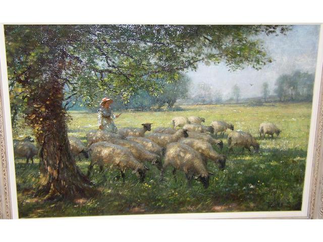 William Kay Blacklock (1872-1922) British Summer shade,