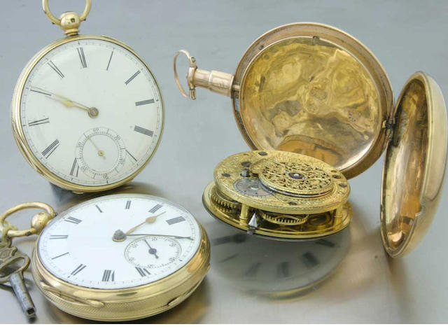 A lot of three 18ct gold pocket watches early and mid-late 19th century 3