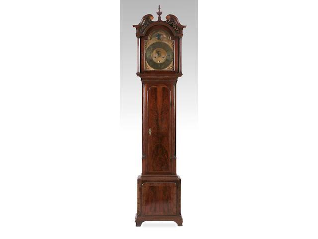 A mahogany and crossbanded longcase clock, Isaac Hadwen, Liverpool, circa 1760,