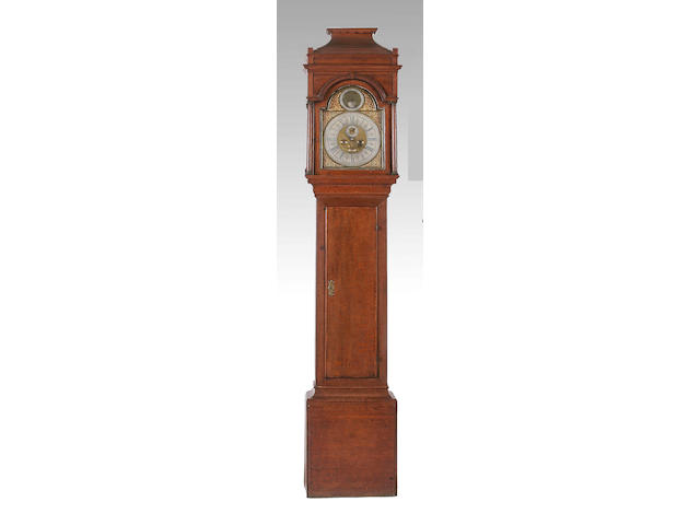 An oak longcase clock, Thomas Ogden, Halifax, circa 1750,