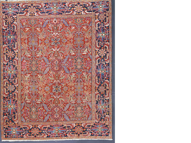 A Heriz carpet North West Persia,