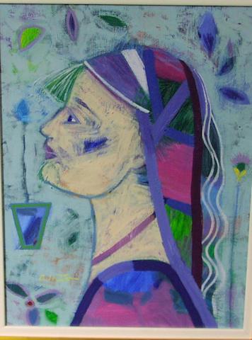 Giuliana Lazzerini Circa 2002 'Spring Garden' 40 x 29cm.
