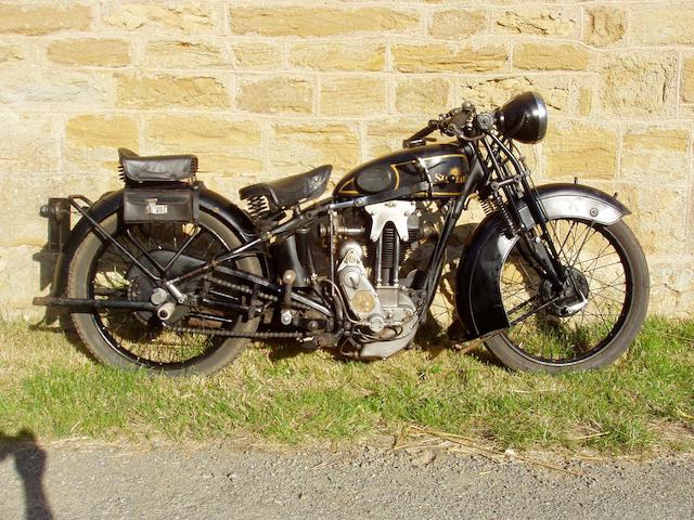 1930 Sunbeam 348cc Model 8  Frame no. C7577 Engine no. K3129