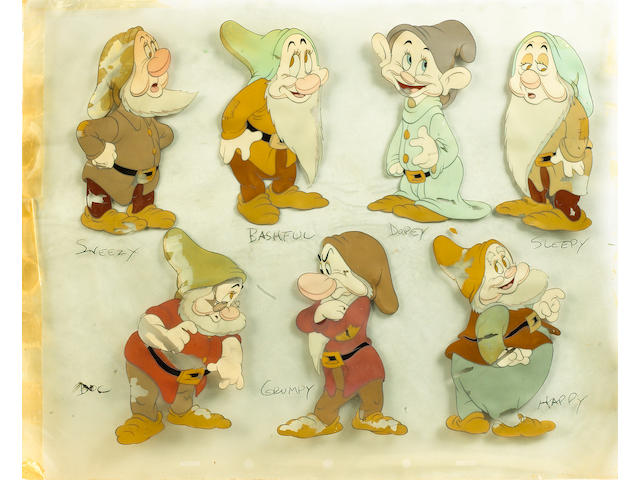 "A Walt Disney celluloid from ""Snow White and the Seven Dwarfs"", 1937,"