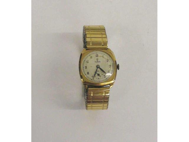 Tudor- a 9 carat gold wristwatch,