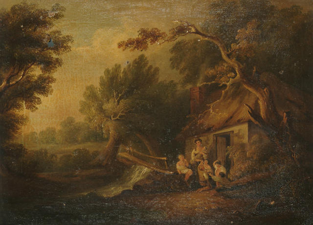 English School, Early 19th Century, After Thomas Gainsborough The Cottage Door, 31 x 42 cm (12 1/4 x 16 1/2 in)