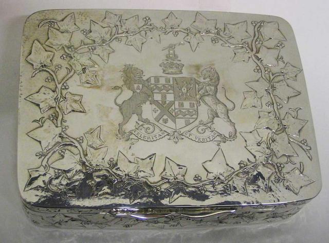 A George IV box By John Edward Terrey, 1824,