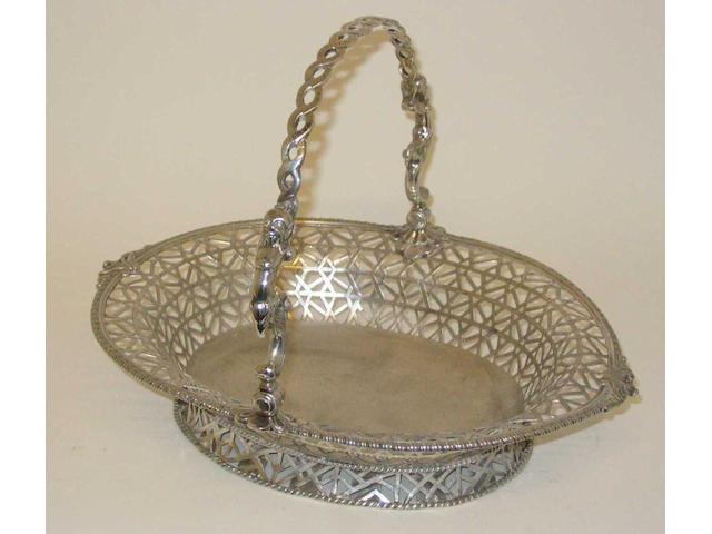 A George II  swing handled basket By S. Herbert,  1754,