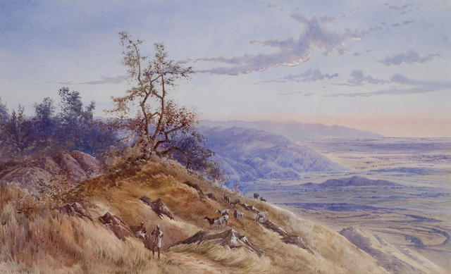 British School, 19th Century View over the Doon Valley from the Shivalik Hills