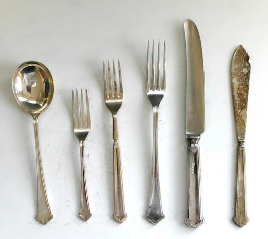 A matched flatware service, by Elkington & Co, Birmingham, various dates,
