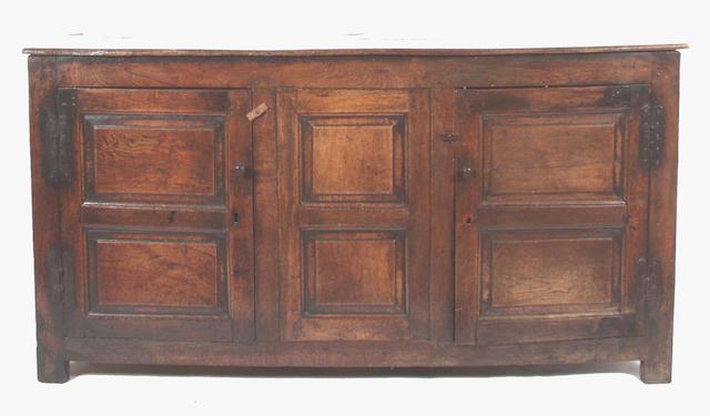 An 18th Century oak dresser base