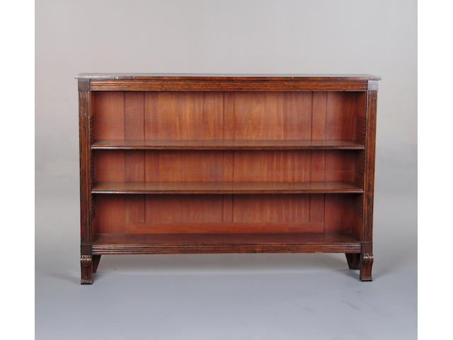 A Victorian rosewood open bookcase