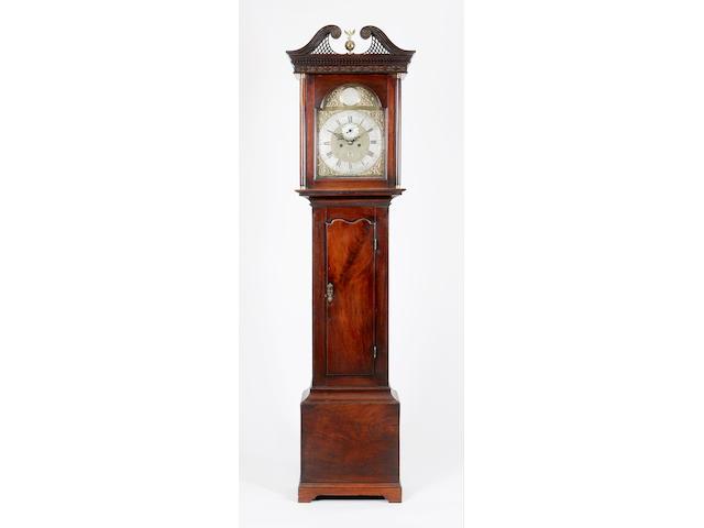 A George III mahogany eight-day longcase clock,