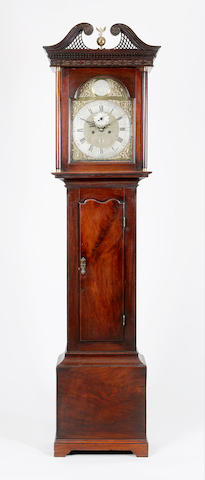 A George III mahogany eight-day longcase clock,