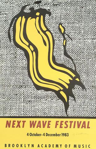 Roy Lichtenstein (American 1923-1997) Next Wave Festival Poster 91 x 61cm (35 3/4 x 24in)(sheet)