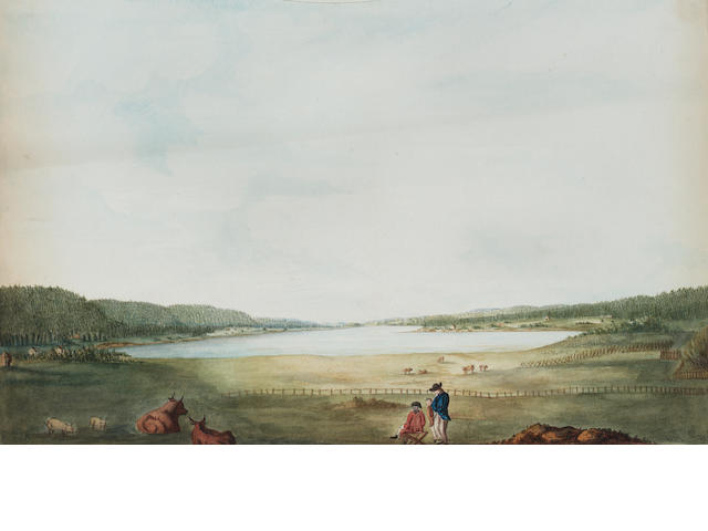 Lt. Richard Williams (British, c.1750-1776) Views of Annapolis, Nova Scotia and its environs: unfram