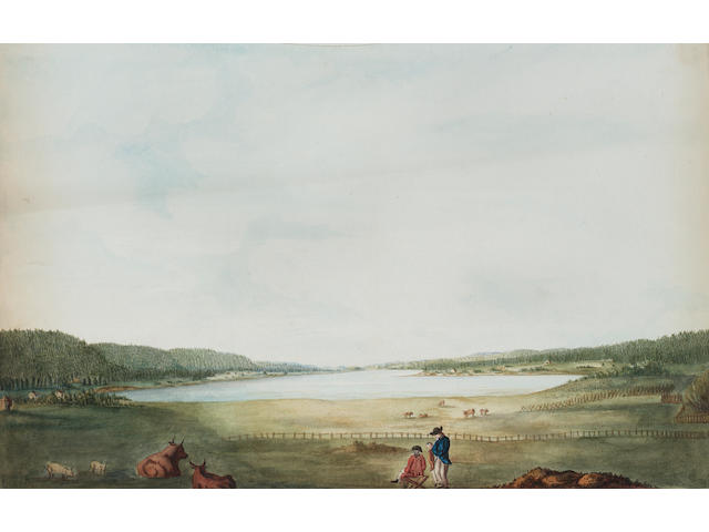 Lt. Richard Williams (British, c.1750-1776) Views of Annapolis, Nova Scotia and its environs: unframed, (5).