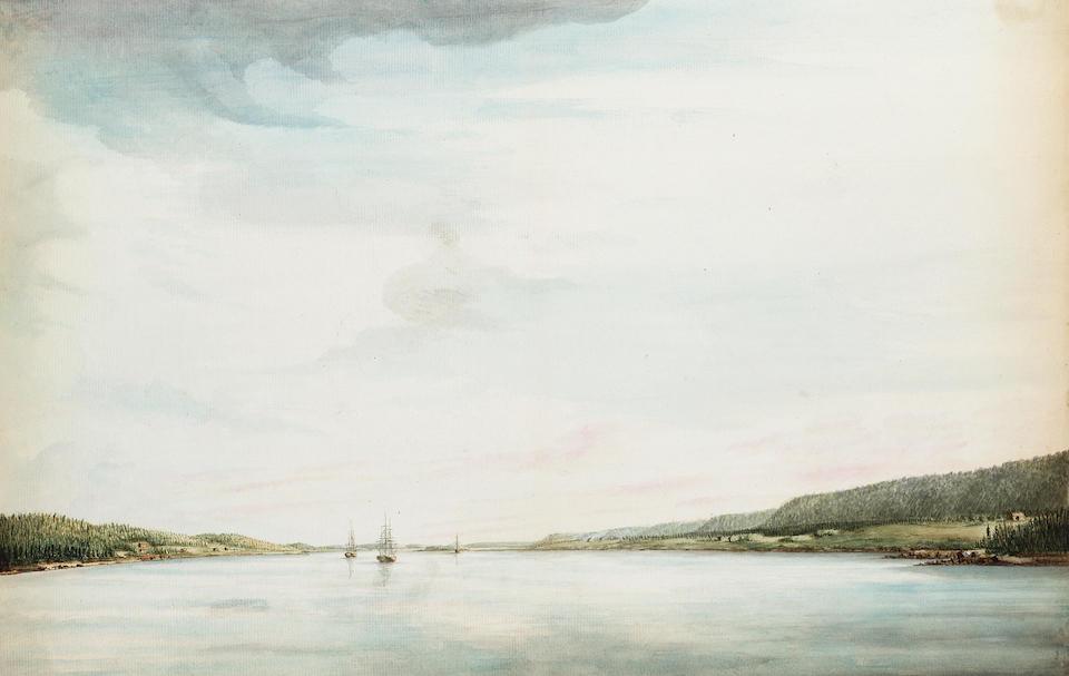 Lt. Richard Williams (British, c.1750-1776) Views of Annapolis, Nova Scotia and its environs: unframed, (5).