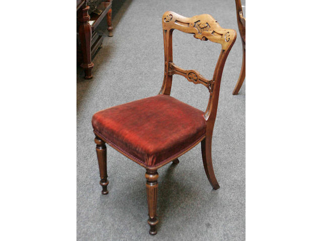 A set of twelve Victorian mahogany Dining Chairs,