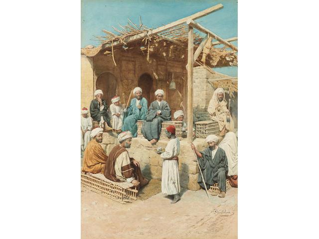 Filippo Bartolini  (Italian, 1861-1908) A coffee rest 54 x 36.5 cm. (21 1/4 x 14 1/4 in.)