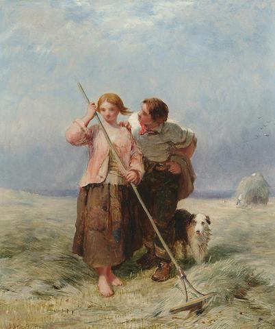 James John Hill (British, 1811-1882) Harvest time, 22 x 19 cm (8 5/8 x 7 1/2 in)