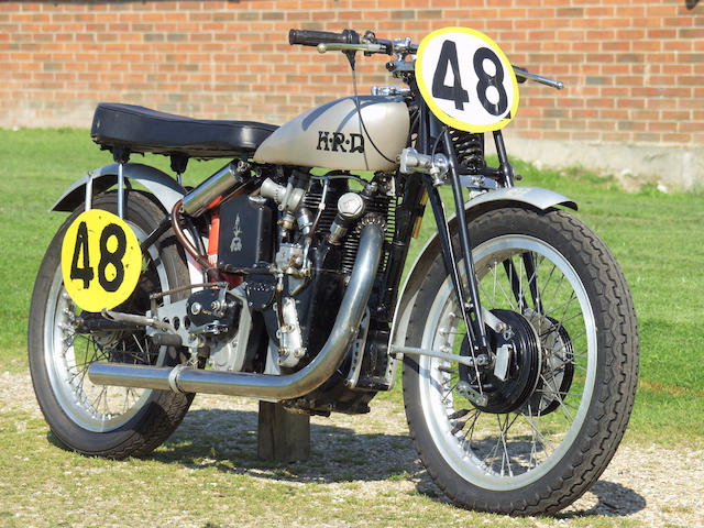 The ex-Works, George Brown,1947 Vincent-HRD 498cc 'Cadwell Special' Racing Motorcycle