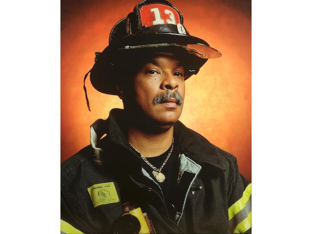 Andres Serrano (b.1950) America (Firefighter Darrell Dunbar) 2002 152.4 x 125.7 cm. (60 x 49 1/2 in.) framed