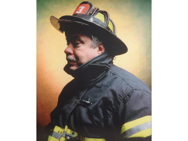 Andres Serrano (b.1950) America (Firefighter, John L. Thomasian) 2002 152.4 x 125.7 cm. (60 x 49 1/2 in.) framed