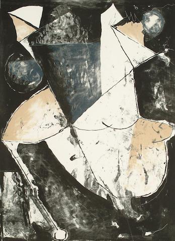 Marino Marini (Italian, 1901-1980)  Lo Spazio 66 x 47.5cm (26 x 18 3/4in)(plate)