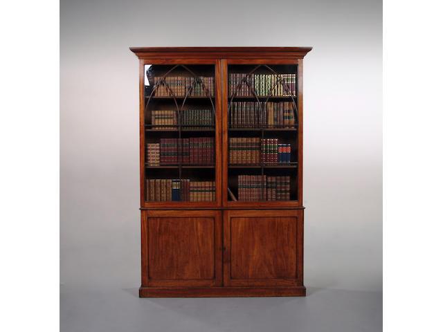 A George IV mahogany bookcase
